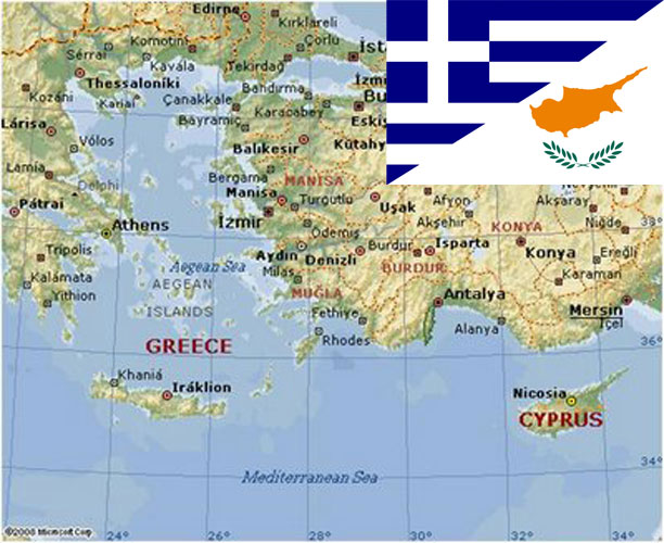 greece turkey cyprus flag GR CY