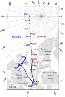 Magnetic North Pole Positions 2015